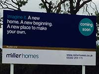 Miller Homes Site Sign