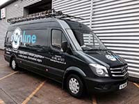 Black Signline Van Graphic