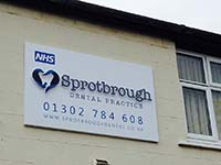 Sprotbrough Dental Commercial Sign