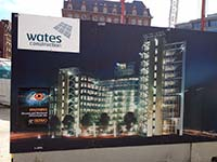 Wates Construction Site Signage
