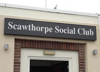 Illuminated Sign, Doncaster, Scawthorpe Social Club Thumb