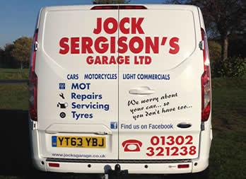 Vehicle Graphic, Doncaster, Jock Sergions Garage 2 Thumb