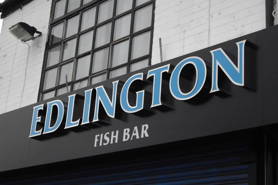3D Cut out letters, Rotherham, Edlington Fish Bar