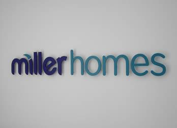 Interior 3D Cut out letters, Gainsborough, Miller Homes Thumb