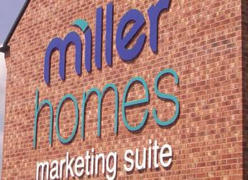 Exterior 3D Cut out letters, Wakefield, Miller Homes Thumb