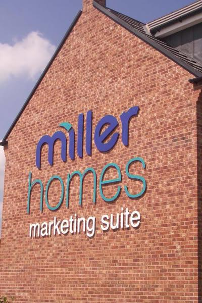 Exterior 3D Cut out letters, Wakefield, Miller Homes