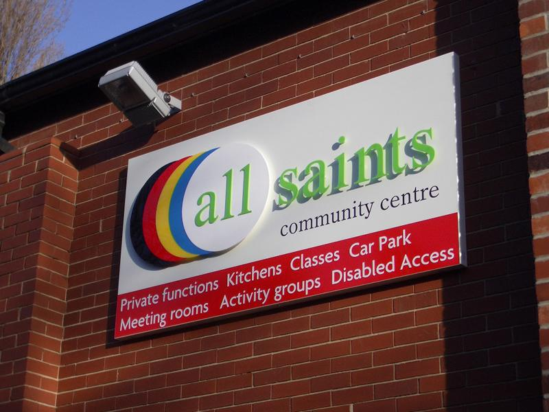 3D Cut out letters, South Kirkby, All Saints Community Centre