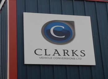 Commercial sign, Doncaster, Clarks Vehicle Conversions Thumb