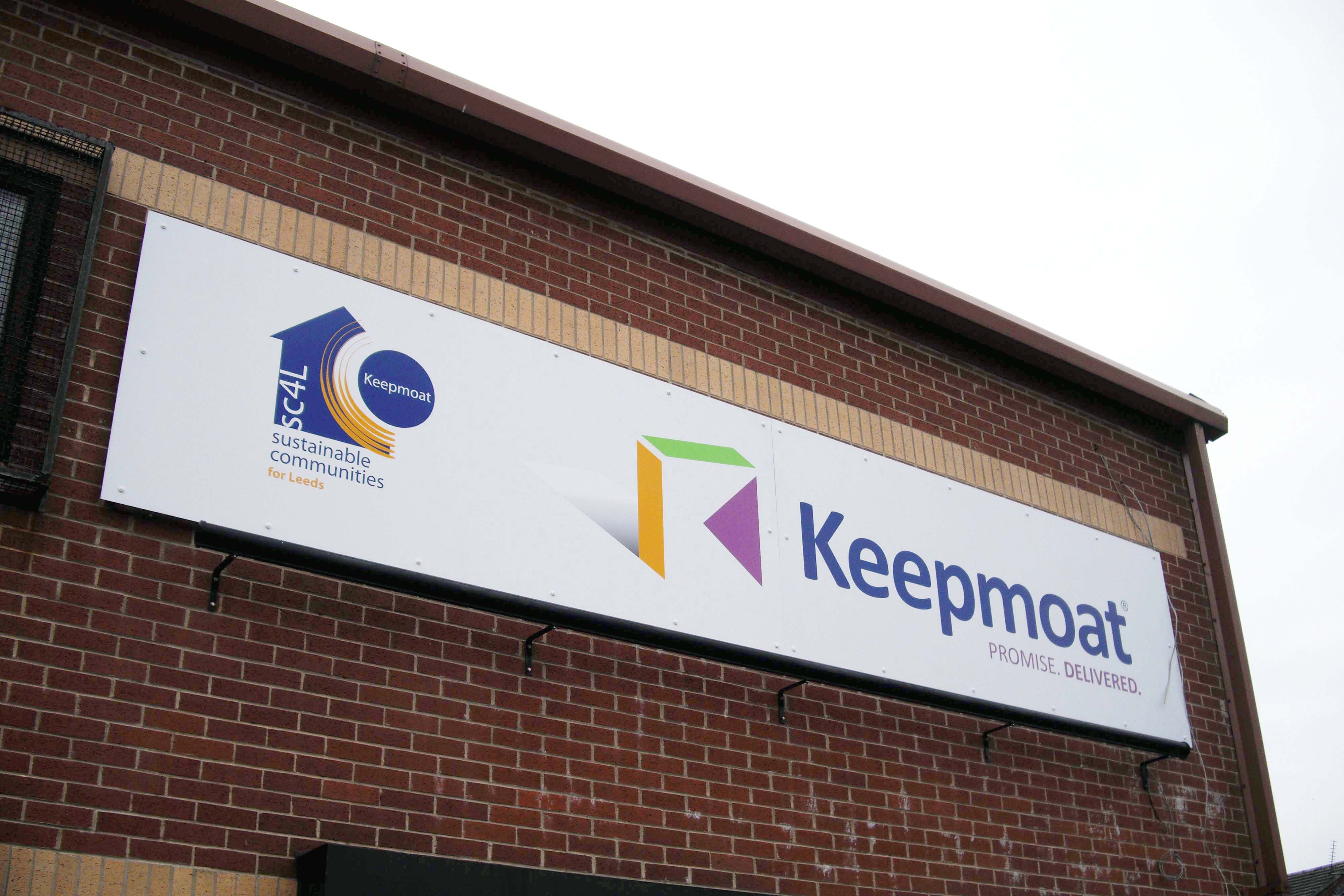 Commercial sign, Leeds, Keepmoat
