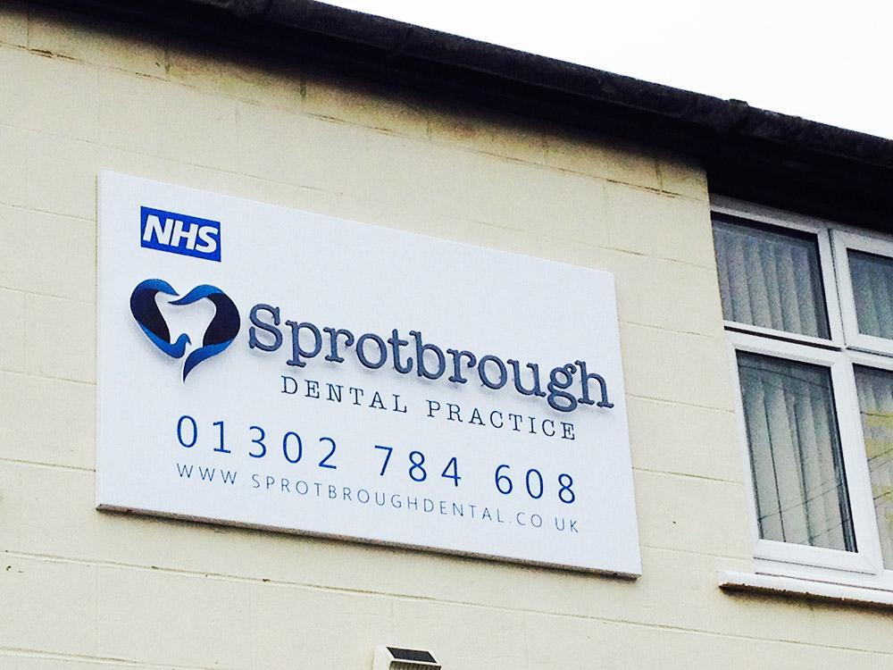 3D Cut out letters, Doncaster, Sprotborough Dental Practice Thumb