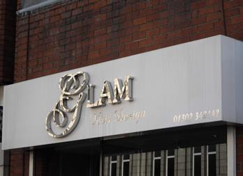 Stainless Steel built up letters, Doncaster, Glam Thumb