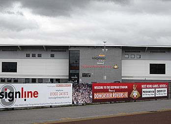 Hoarding Sign, Doncaster, Doncaster Rovers Football Club Thumb