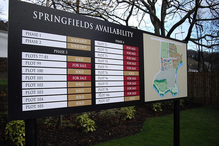 Site Sign, Barnsley, Cala Homes