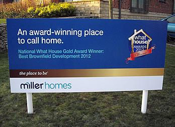 Site Sign, Leeds, Miller Homes Thumb
