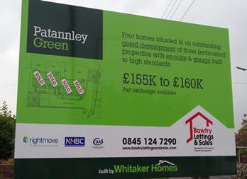 Site Sign, Doncaster, Whitaker Homes Thumb