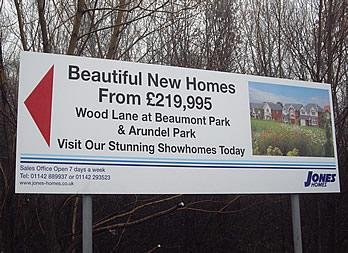 Site Sign, Rotherham, Jones Homes Thumb