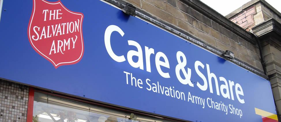 Signline Yorkshire, Shop Signs Slider, Salvation Army